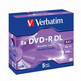DVD+R VERBATIM 8x D Layer JC 5Pack 43541