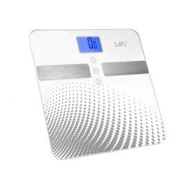Waga łazienkowa LAFE WLS003.1 z analizą Srebrna kropki